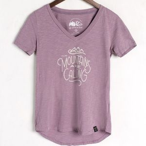 United by Blue Mountains Are Calling organic tee M